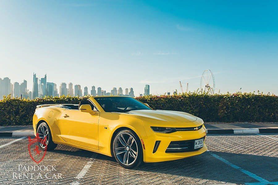 Chevrolet Camaro V8 Convertible For Rent In Dubai At Paddock